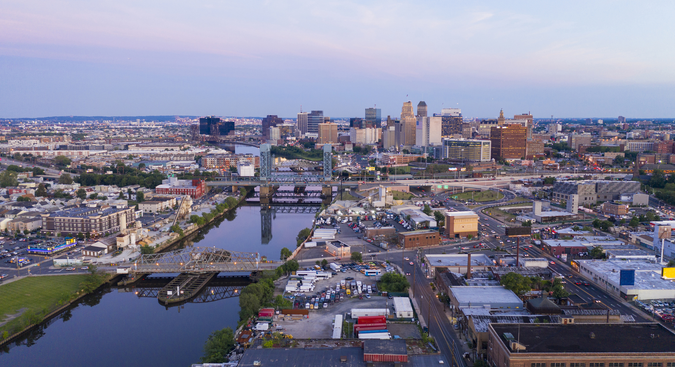Downtown Metro Area of Newark New Jersey